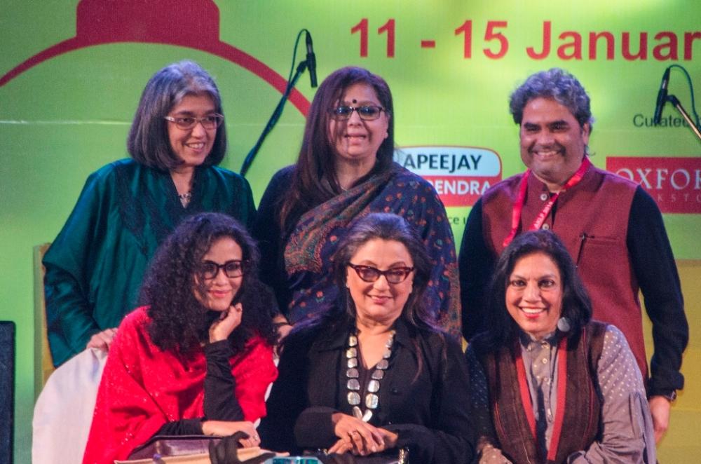 Ratna Pathak, Vishal Bharadwaj, Mira Nair, Aparna Sen and Nandana Sen at AKLF 2018